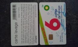 ANCIENNE CARTE A PUCE LAVAGE BP 6 UNITES CARTE OFFERTE PAS COURANT T.B.E !!! - Frankrijk