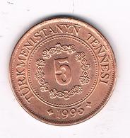 5 TENGA 1993 TURKMENISTAN /0187/ - Turkménistan