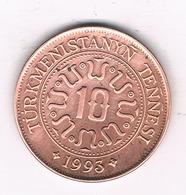 10 TENGA 1993 TURKMENISTAN /0188/ - Turkménistan