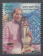 INDIA 2018 Ustad  SABRI KHAN, Musician, Music, 1v.   ,MNH(**) - India