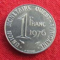 West African States 1 Franc 1976  Africa Afrika Afrique Wºº - Monnaies