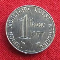 West African States 1 Franc 1977  Africa Afrika Afrique Wºº - Monnaies