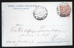 ORTONA A MARE - CHIETI - 1917 -  CARTOLINA  COMMERCIALE - DITTA ALLEVA - Negozi