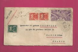 Lettre De 1947 Pour La France - YT PA N° 4 - Taxe N° 76 En Paire Et 69 - Anniversaire De La Victoire - A.O.F. (1934-1959)