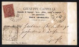 SALA CONSILINA - SALERNO - 1892 -  CARTOLINA  COMMERCIALE -  DITTA CAPPELLI - Negozi