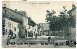 - 217 - ANNEMASSE -  (Hte Savoie ), La Rue Du Commerce, épaisse, Animation, écrite, 1904, BE, Scans. - Annemasse