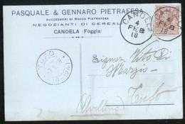 CANDELA - FOGGIA -  1918 -  CARTOLINA  COMMERCIALE - DITTA PIETRAFESA - Negozi