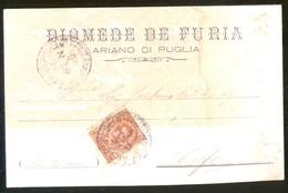 ARIANO IRPINO - AVELLINO -  1900 -  CARTOLINA  COMMERCIALE - DITTA DE FURIA - Negozi