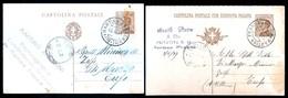 MARTINA FRANCA - TARANTO -  1929 E 1931 -  2 CARTOLINE  COMMERCIALI - TIMBRO DITTE ANGELINI E BASILE - Negozi