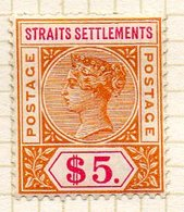 GRANDE BRETAGNE (Ex-cololies) - MALACCA - 1892-1901 - N° 74 - 5 D. Jaune-brun Et Carmin - (Victoria) - Straits Settlements