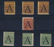 FRANCE    N° 81  à  87 - Parcel Post