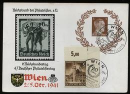 3. Reich - DR 3 Pfg Hitler Sonder GS Postkarte P 306 + Eckrand Marburg Steiermark Briefmarke: Gebraucht Mit Sonderstem - Deutschland