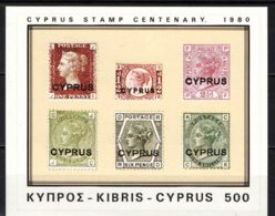 CIPRO - 1980 - CENTENARIO DEL PRIMO FRANCOBOLLO DI CIPRO - FOGLIETTO - SOUVENIR SHEET - MNH - Cipro (Repubblica)