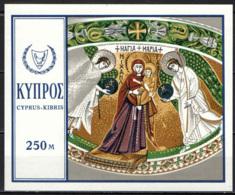 CIPRO - 1969 - PITTURE SACRE - NATALE - FOGLIETTO - SOUVENIR SHEET - MNH - Cipro (Repubblica)