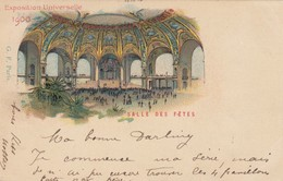 CARD.  FRANCE. 1900. EXPOSITION UNIVERSELLE. SALLE DES FETES. PARIS TO GENEVE  /   4 - Francobolli