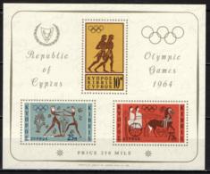 CIPRO - 1964 - OLIMPIADI DI TOKIO - FOGLIETTO - SOUVENIR SHEET - MNH - Cipro (Repubblica)