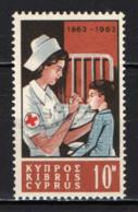 CIPRO - 1963 - CENTENARIO DELLA CROCE ROSSA INTERNAZIONALE - MNH - Cipro (Repubblica)