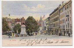 ST. GALLEN Marktplatz Und Vadiandenkmal Gel. 1905 N. Zürich - SG St. Gall