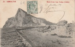 ***  GIBRALTAR  *** GIBRALTAR Rock From San Felipe (lines) TTB - Gibraltar
