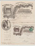 """PARIS: """" DROGUERIE VETERINAIRE Dautreville Rue Francs Bourgeois/ LAC De 1914 Pour Olliergues SUP - Marcophilie (Lettres)"""
