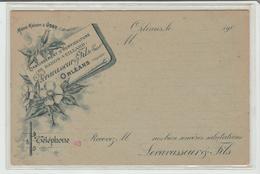 """LOIRET: """" ETABLISSEMENT D'HORTICULTURE Levavasseur & Fils à Orléans / Avis De Passage De 1900 (!) Neuf SUP - Marcophilie (Lettres)"""