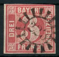 BAYERN QUADRATE Nr 9 GMR 223 Zentrisch Gestempelt X87E60E - Bayern