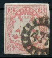 WAPPEN-AUSGABE 1867-1868 Nr 15 GMR 477 Zentrisch Gestempelt X8803CE - Bayern
