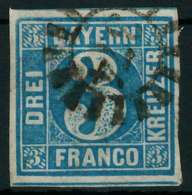 BAYERN QUADRATE Nr 2II GMR 374 Gestempelt X8822A6 - Bayern