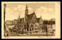 AK Breslau 1933 Rathaus Mit Staubsäule, Bahnstempel (R6291 - Ohne Zuordnung