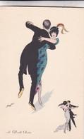 LE DOUBLE BOSTON. SAGER XAVIER ILLUSTRATION.. BG. CIRCA 1930s NON CIRCULEE- BLEUP - Sager, Xavier
