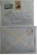 """Messageries Maritimes CARGO"""" AURAY""""  CHITTAGONG EAST PAKIST  Timbre Evian Et Delacroix  Marques D'entrées  Jan2019Abl6 - 1921-1960: Modern Period"""