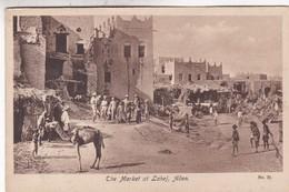 THE MARKET AT LAHEJ, ADEN. N°30. VINTAGE SCENE. CIRCA 1910s NON CIRCULEE. YEMEN- BLEUP - Yemen