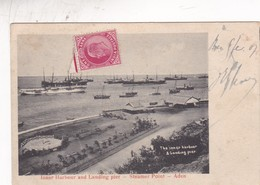 INNER HARBOUR AND LANDING PIER. STEAMER POINT. ADEN. YEMEN.. CIRCULEE 1907 A FRANCE  - BLEUP - Yemen
