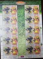 O) 2002 MALAYSIA -TROPICAL BIRDS - DRYCOPUS JAVNESIS -ORIOLUS CHINENSIS  -SCT 886, SHEET MNH - Malaysia (1964-...)