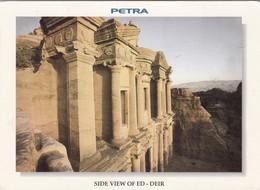 PETRA. SIDE VIEW OF ED. DEIR. JORDAN. CIRCULEE 2000 A L'ARGENTINE - BLEUP - Jordanie