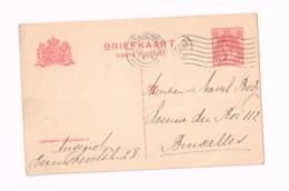Entier Postal à 5 Cents.Expédié De GRavenhage à Bruxelles. - Entiers Postaux
