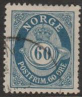 NORWAY - 1900 60o Post Horn. Scott 58. Used - Norway