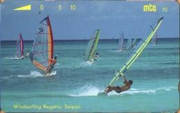 Northern Mariana Islands - NMI-MT-09, Mtc, Windsurfing Regatta, Saipan, 10U, 1993, Used - Northern Mariana Islands