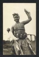 Nigeria Traditional Women Girl Black & White Picture Postcard - Nigeria