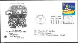 US 1999  Celebrate The Century Beatles Yellow Submarine On  FDC - Ersttagsbelege (FDC)