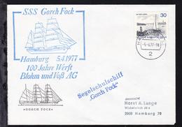 OSt. Hamburg 5.4.77 + Cachets SSS Gorch Fock 100 Jahre Werft Blohm Und Voß AG  - Unclassified