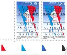 FRANCE 1996  N°2971**  50 Ans Au Service De La Nation LA PAIRE BDF - France