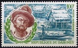 Dahomey 1970 - Poet Walt Whitman ( Mi 413 - YT Pa 123 ) MNH** Airmail - Benin – Dahomey (1960-...)