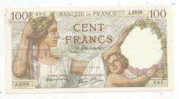 Billet , France , 100 ,  Cent Francs, Sully, 5-10-1939 , 2 Scans, Frais Fr 1.95 E - 1871-1952 Anciens Francs Circulés Au XXème