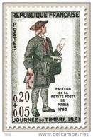 N° 1285 Journée Du Timbre 1961 Faciale 0,20+0,05 F - Ungebraucht
