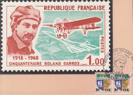 Carte  REUNION   Exposition   ROLAND  GARROS    SAINT  DENIS   1968 - Lettres & Documents