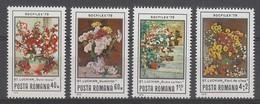 SERIE NEUVE DE ROUMANIE - TABLEAUX DE FLEURS DE ST. LUCHIAN N° Y&T 3187 A 3190 - Arte