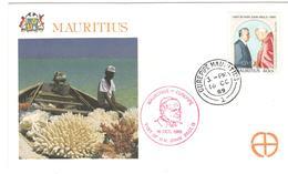 12493 - VOYAGE DE JEAN PAUL II - Maurice (1968-...)