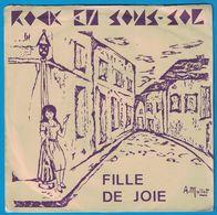 DISQUE 45 TOURS ROCK EN SOUS-SOL FILLE DE JOIE A. MALLET / LE CLOCHARD 1983 - Vinyl Records
