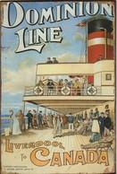 PAQUEBOT Dominion Line  LIVERPOOL To  CANADA  Plaque Métal Epaisse  ,,, Marque /  Star Genova  2008 - Plaques Publicitaires
